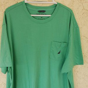 Nautica Men's Pocket T-Shirt, Mint Spring, 3X Big